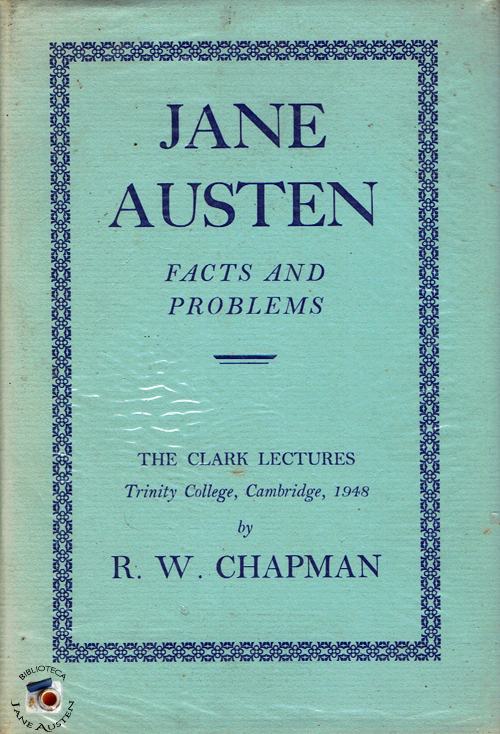 Jane Austen Facts and Problems