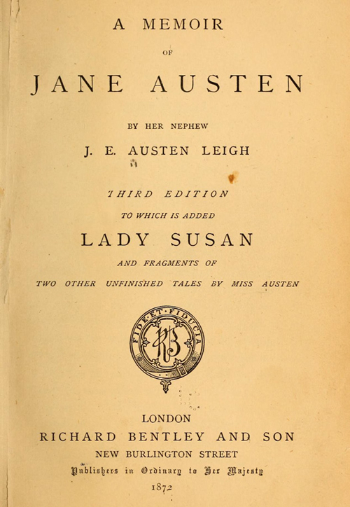 A Memoir of Jane Austen, Archive Org