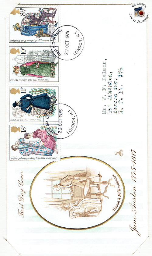Jane Austen, First Day Cover, 1975